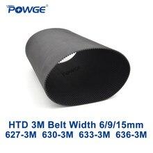 POWGE 3 HTD 3M correia Dentada C = 627 630 633 636 largura 6/9/15 Dentes dois milímetros 209 210 211 212 HTD3M synchronous 627-3M 630-3M 633-3M 636- 3M