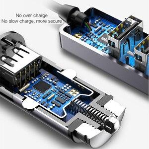Image 4 - Baseus 4 USB מהיר מטען לרכב עבור iPhone iPad סמסונג Tablet נייד טלפון מטען 5V 5.5A רכב USB מטען מתאם לרכב מטען