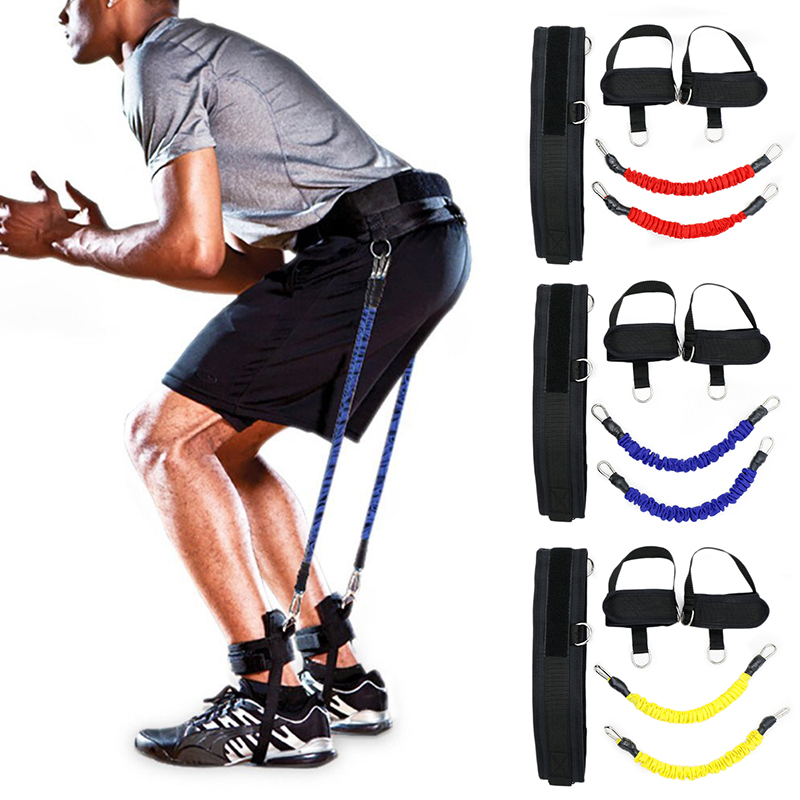 Fitness Bounce Trainer Pull Rope Resistance Bands Basketball Football Running Jump Trainer Leg Strength Agility Training Strap