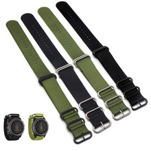 26mm Watch Band Nylon Strap 5 Ring Watch Replacement Band For Garmin Fenix 3 Black/Green Watchband +2Pcs Screwdriver garmin fenix 5 sapphire black black band