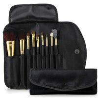 9pcs Eyeshadow Makeup Brushes Set Pro Rose Gold Eye Shadow Blending Make Up Brushes Soft Synthetic