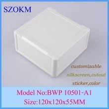 4 pcs/lot pcb case enclosure plastic project box enclosure box for diy  diy electronic case 120x120x55mm