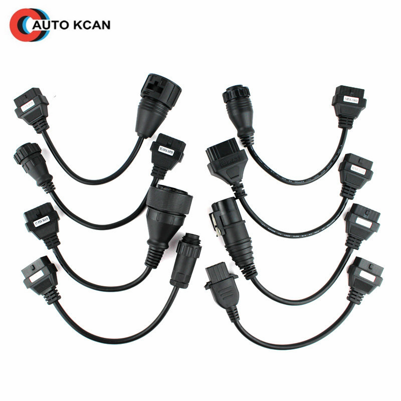 OBD II/OBD 2 Truck Cables VD TCS CDP Pro OBD2 OBDII Trucks Diagnostic tool connect cable 8 PCS Trucks Cable CDP Plus for WOW