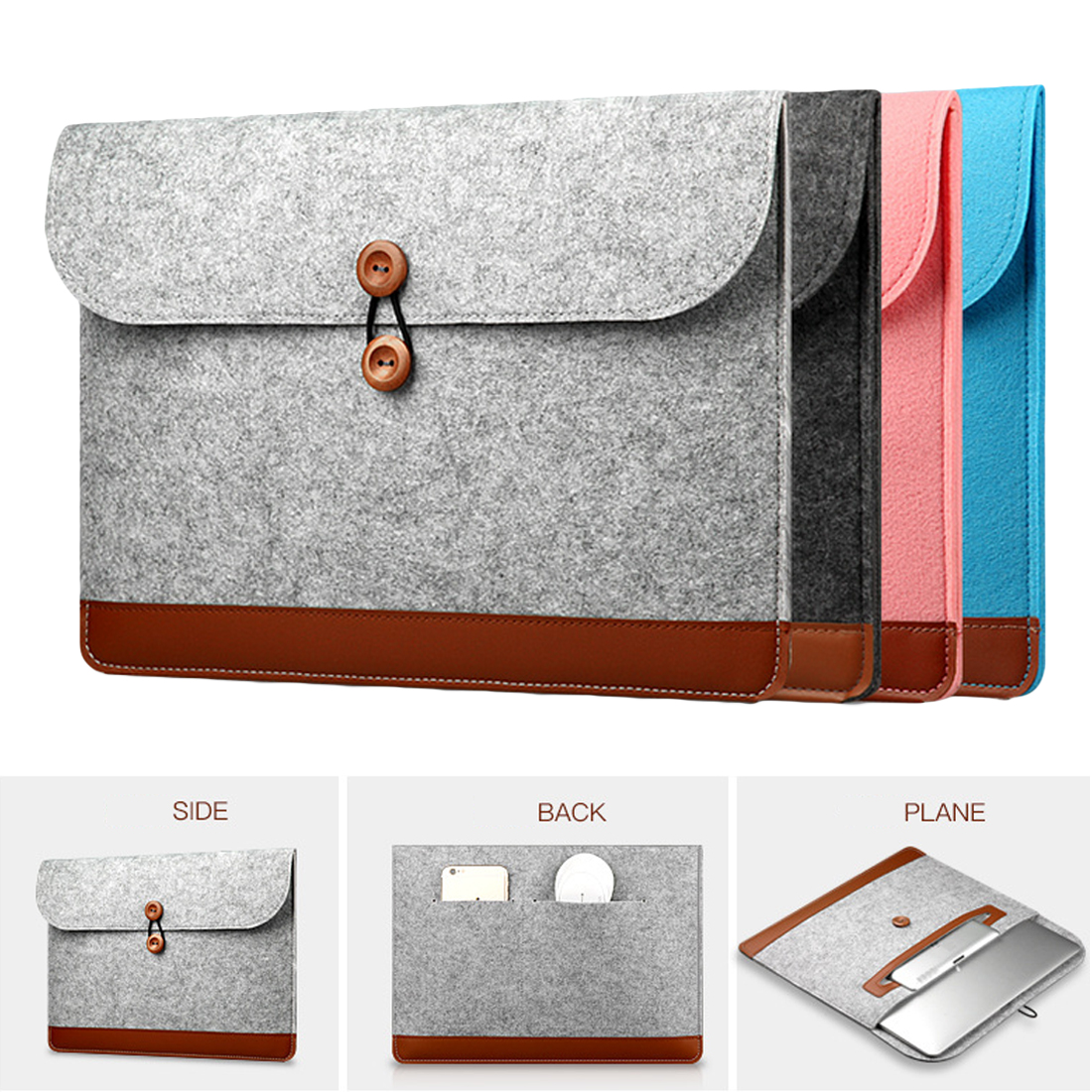 Centechia Nova Moda Macio Sleeve Case Bag Para Apple Macbook Air Pro Retina 11 12 13 15 Laptop Anti- sentiu Tampa do zero