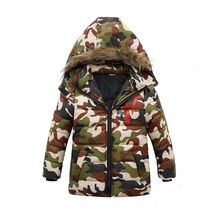Winter Warm Thickened Child Coat Camouflage Children Outerwear Baby Clothing Windproof Boys Girls Jackets For 1-6 Years Old