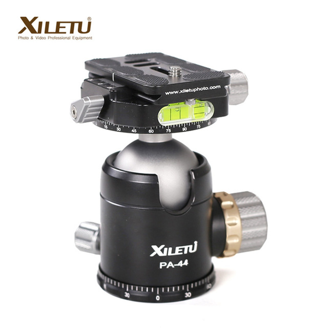 XILETU PA-44 Tripod Ball Head and Quick Release Plate interface 1/4 & 3/8 inch For Manfrotto Gitzo RRS Arca SWISS KIRK Wimberley fittest custom l bracket l plate vertical plate for nikon d500 d500 arca swiss rrs lever release clamp compatible