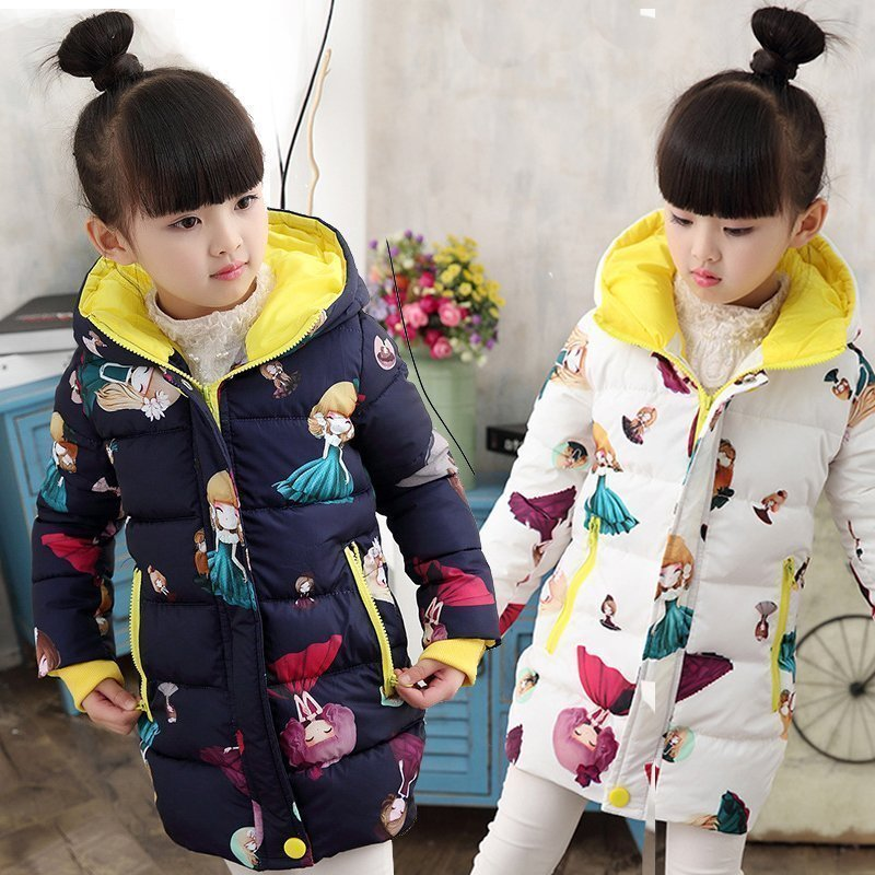 2018 New Style Toddler Baby Girls Winter Down Coat Infants Kids Cotton Jacket Outwear Kids Clothes Children Clothing 10 12 Years тайтсы женские asics tight цвет черный 154261 0914 размер xs 42