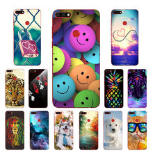 "5.7"" for Huawei Honor 7C Aum-L41 Silicone Full Protection for Honor 7C 7 C DIY Pine Printing Thin TPU Phone Cases Capa(China)"