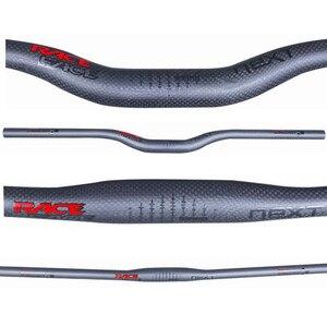 Image 2 - Süper Hafif Yarış Yüz Yeni Dağ bisikleti 3 k tam karbon gidon mat karbon bisiklet gidon MTB parçaları 31.8 * 600 760mm