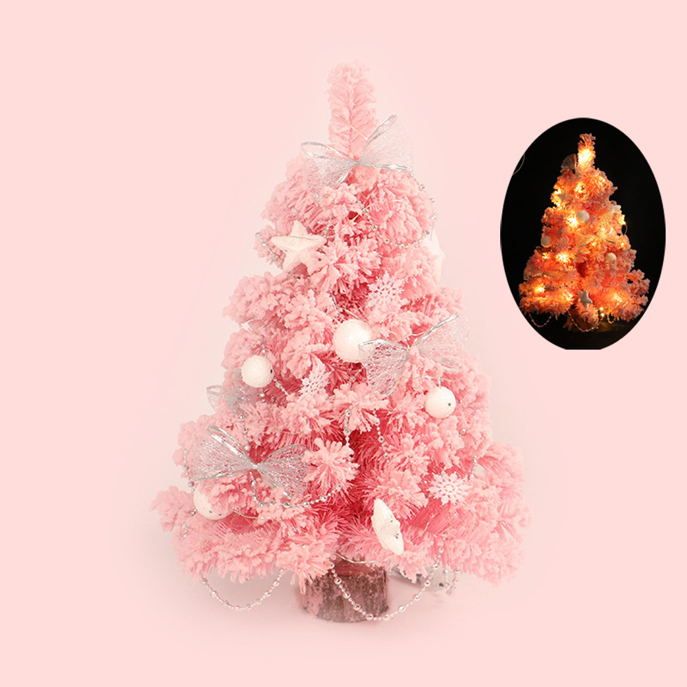 Pink Christmas Trees.Us 6 5 35 Off Small Encryption Mini Christmas Tree 30cm Pink Gift Creative Artificial Trees Christmas Decorations 30gy In Trees From Home Garden