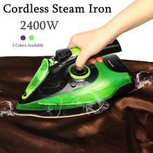 EU Plug 2400W Steam Iron 5 Speed Adjust Cordless Wireless Charging Portable Clothes Ironing Steamer Portable Ceramic Soleplate цена и фото