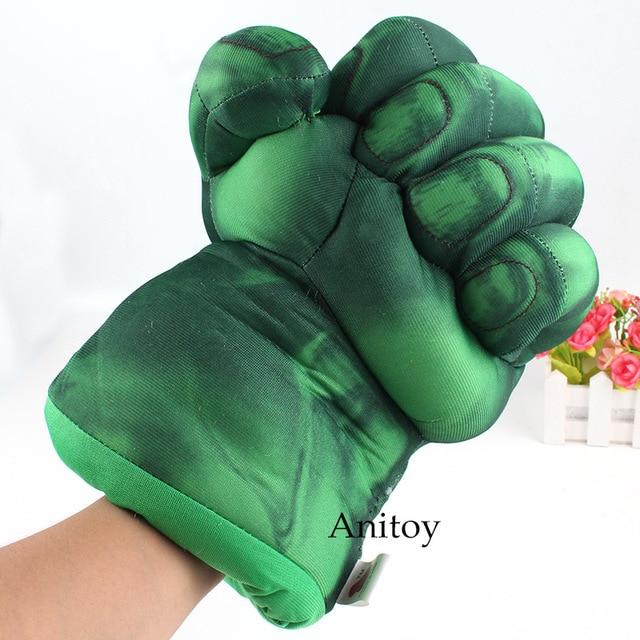 Super-heróis Da Marvel Brinquedos Incrível Hulk Mãos Quebra Luvas De Pelúcia Cosplay Realizando Props Brinquedos de Pelúcia para As Crianças 25 cm