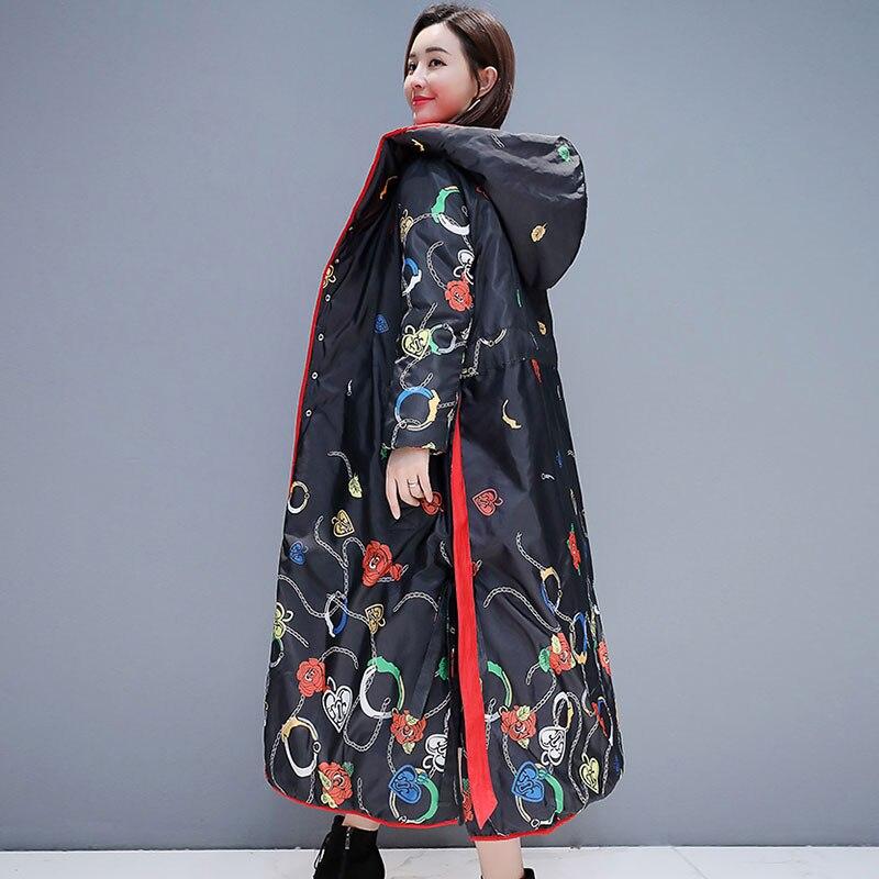 Black Veste Parkas Haute Capuche red Pour Peut Deux 895 Qualité Parka Long Manteaux Femmes Outwear À Hiver 2019 Côtés Les Porter Femme W4RacOOqA