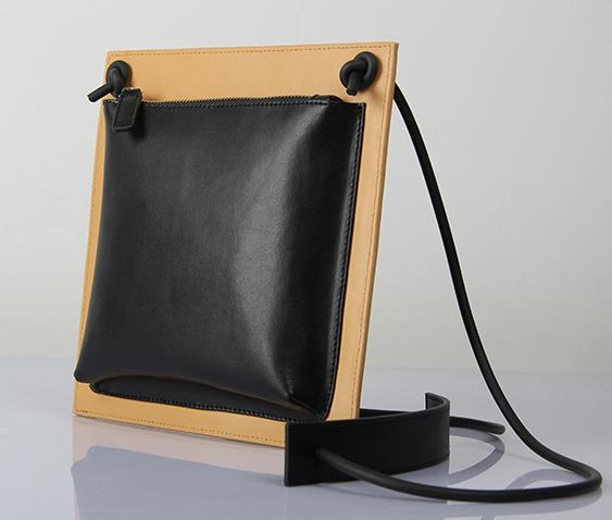 ФОТО NEW women leather handbags vintage beige color block decoration genuine leather messenger bags all match string shoulder bag