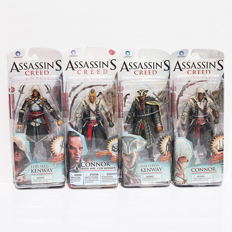 4 Styles NECA Assassin's Creed 4 Edward Kenway Connor Haytham Kenway Figure Toys Collectible Model Dolls mi learning styles
