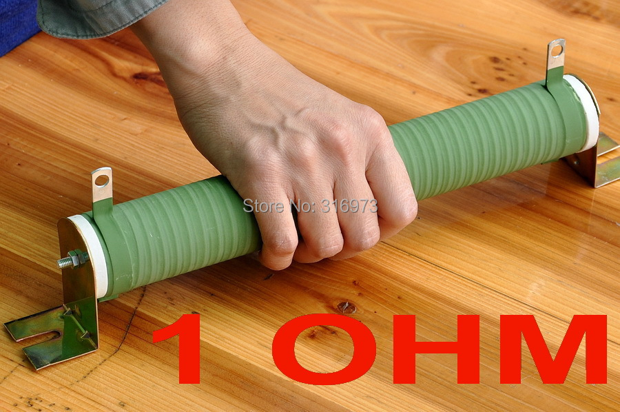 Résistance bobinée en Tube céramique haute puissance 1 ohm 300 Watts, 300 W.