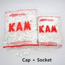 Chenkai 1000 наборов T5 Размер 20 Кам круглые глянцевые пластиковые кнопки из смолы, крепежные детали для кнопок, кнопки для маленьких детей(крышка+ розетка