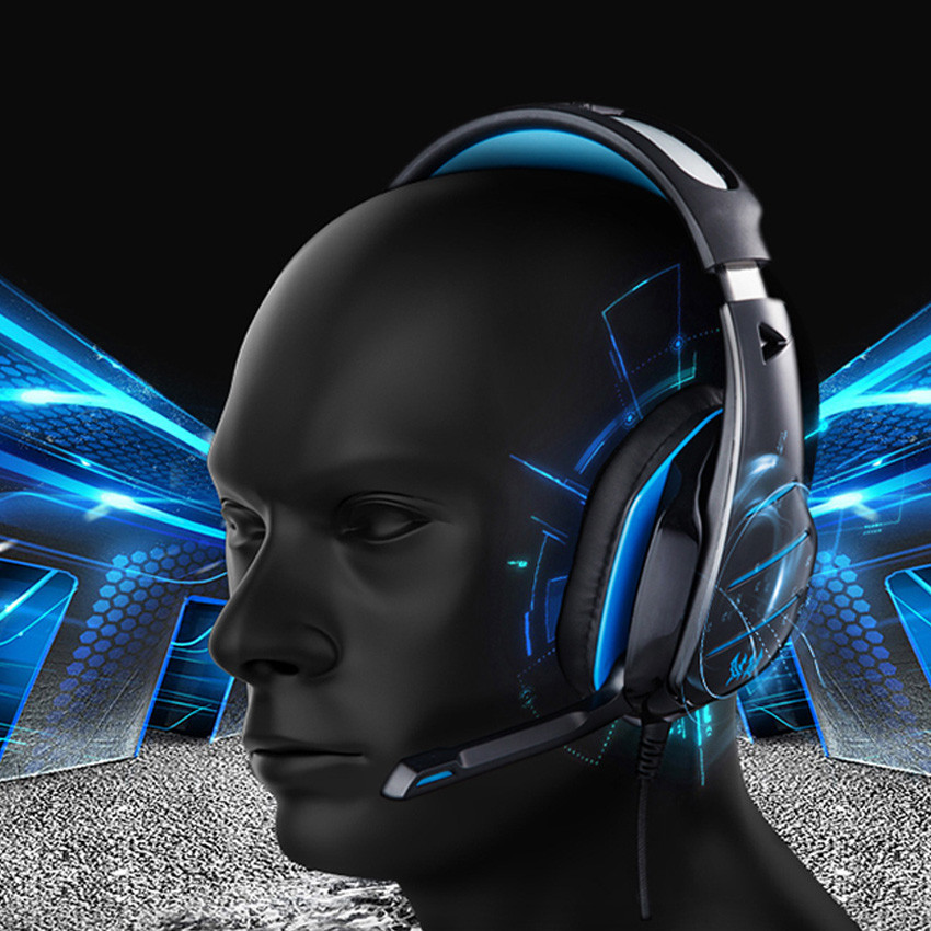 KOTION EACH GS800 casque Stereo Gaming Headphones 3.5mm PC Gamer Headset with Mic and Led Light for Compurter Game