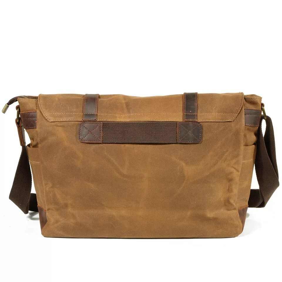 8365b84b6eea Waterproof Canvas Leather Shoulder Bag Men Crossbody Bags Vintage Satchel  School Male Messenger Bag Business Laptop Work Bags on Aliexpress.com