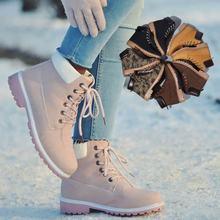 93e4b2e5e مصمم النساء الشتاء الكاحل الثلوج الإناث الدافئة الفراء أفخم نعل مارتن  الأحذية أزياء أحذية الدانتيل للنساء