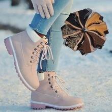 Designer Women Winter Ankle Snow Boots Female Warm Fur Plush