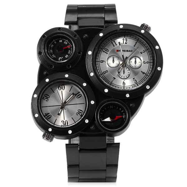 Design Retro Watch With Compass & Thermometer