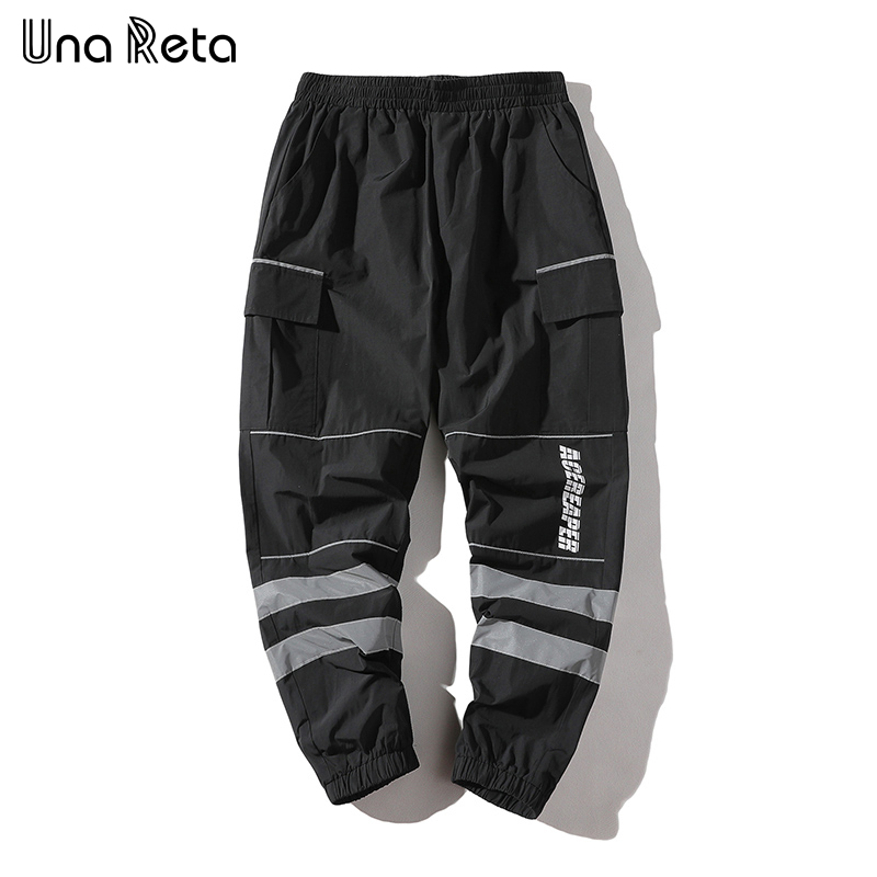 Una Reta Hip hop Pants Mens 2018 New Fashion printing stripe Fitness pants Men Casual Sweatpants Trousers Streetwear Harem pants-in Harem Pants from Men's Clothing    1