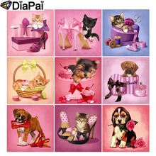 DIAPAI Diamond Painting 5D DIY Full Square/Round Drill Dog cat shoes flower gift box 3D Embroidery Cross Stitch Decor Gift