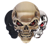 3D Skull Zinc Alloy Metal Car and Motorcycle Sticker
