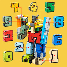 Digital Letter Symbol Transformers Robot Letters Transforming Assembled Building Blocks Childrens Educational Toys Gift Interac