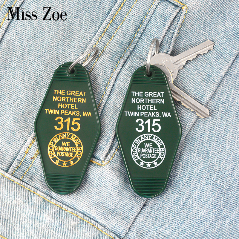 The Great Northern Hotel Room # 315 Keychain Key Chain Green Keytag Cool Accessories Jewelry Wholesale Gift For Men Boyfriend