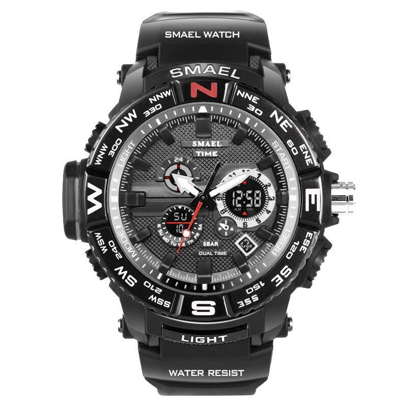 SMAEL montres homme Or montre de sport Shock Resist Chronomètre led étanche montre pour homme 1531 Relogio Masculino 2017 Hommes montre-bracelet