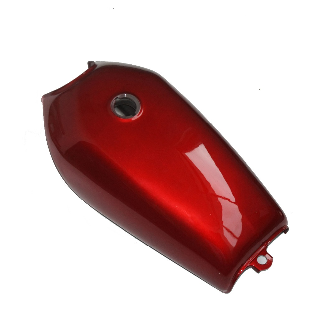 Red Motorcycle Cafe Racer Vintage Fuel Gas Tank With Tap