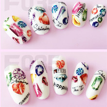 1 Sheet New Fashion of Simulation 3D Nail Stickers Ultra-thin Waterproof Decals