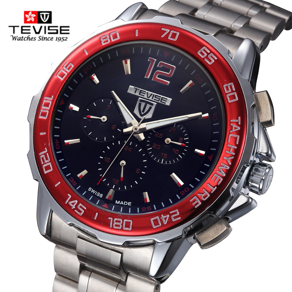 Tevise 356 Fashion Men Automatic Mechanical Watch Cool Males Wrist Watches Gift Box Trend Steel Wristwatches Relojes Mecanicos orkina gold watch 2016 new elegant armbanduhr herrenuhr quarzuhr uhr cool horloges mannen gift box wrist watches for men