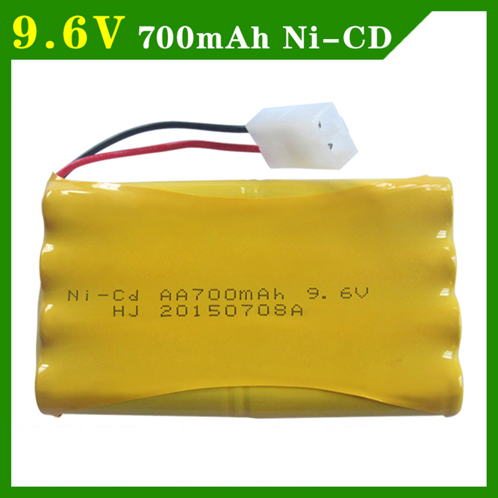 9.6V 700mAh Remote Control Electric Toy Lighting 9.6V 700mAh Ni-CD Battery AA Rechargeable Battery