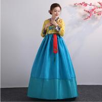 Korean Traditional Female clothing Evening Party Dress national folk dance stage wear vintage embroidered Hanbok Asia Costume