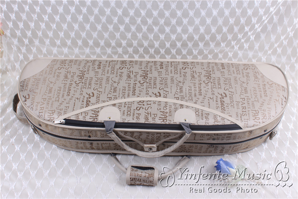 new     4/4 Violin case   #GF39 handmade new solid maple wood brown acoustic violin violino 4 4 electric violin case bow included