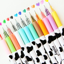 Student Pen Marker-Pen Signing Diamond-Gel Multicolour Stationery Office Creative Cows