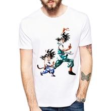 Brand Dragon Ball Z T Shirt Men Fashion Men's Casual T-shirt Short Sleeve Son Goku and Gohan Anime white t-shirt Homme