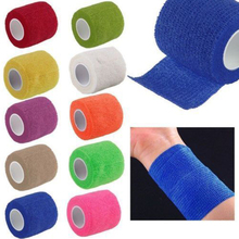 Self-Adhesive Elastic Bandage Gauze Tape Medical Finger Muscle Ankle Care Wrap for outdoor sports
