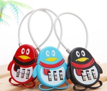 3pcs/set Fashion Cute Resettable 3 Digit Combination Lock Travel Luggage Suitcase Code Lock Padlock Children Gifts Wedding Gift 3 digit compact padlock assorted color