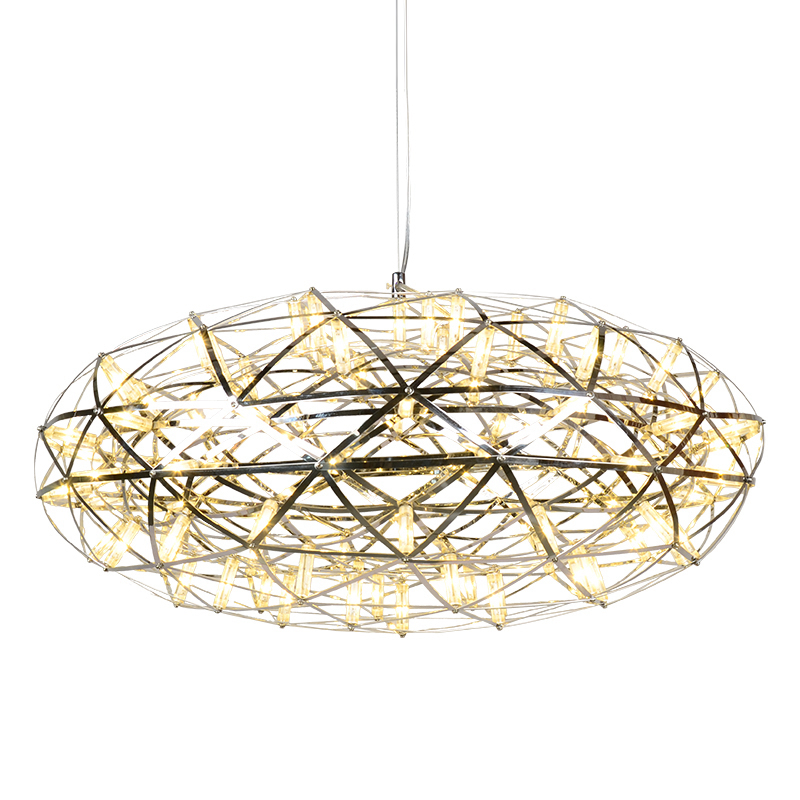Suspension Light modern pendant lamp Gypsophila 92 lamp oval shape creative hanging firework stainless steel elliptic