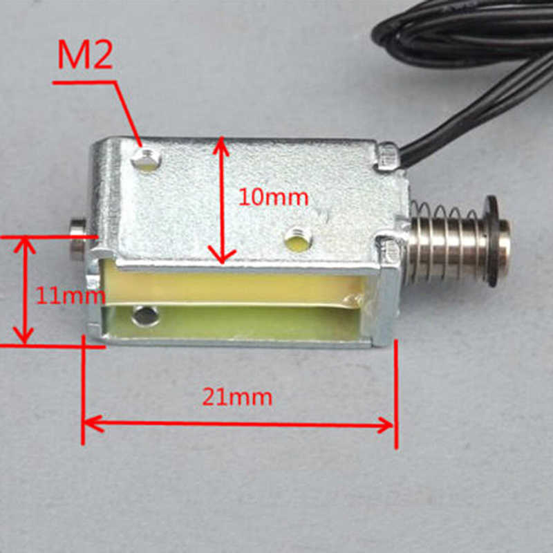 12V DC de succión Micro electroimán primavera tipo push pull Rod solenoide imán 4mm