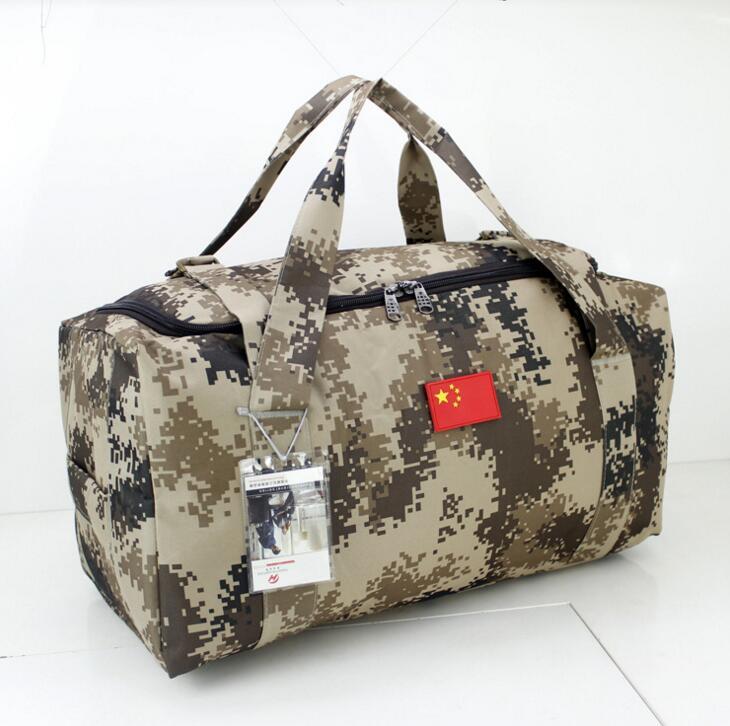 Military camouflage luggage bag bags of Oxford cloth handbag large capacity camouflage bag