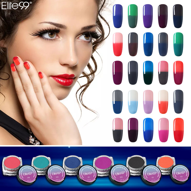 Elite99 Color Change Nail Powder Dust Nail Glitter