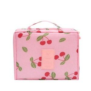 Image 4 - Estuche para maquillaje multifuncional, bolsa de viaje para cosméticos, bolsa de almacenamiento organizadora