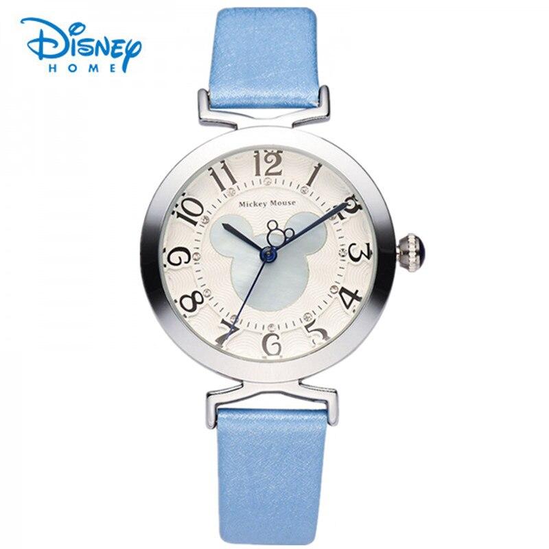 100% Genuine Disney Quartz Watch Women Girl Leather Brand Wrist Bracelet Watches Ladies reloj mujer montre femme Fashion Watch