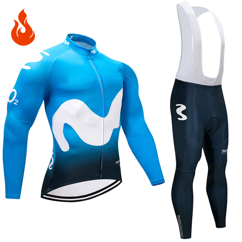 2018 Pro Team Winter Thermal Fleece Cycling Jersey Set Abbigliamento Ciclismo Invernale Bicycle Clothing MTB Bike Jersey 9D Gel