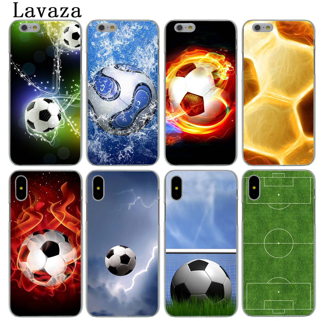 Lavaza Soccer Football Sports court Hard Fashion Phone Skin Shell Case for Apple iPhone X 10 8 7 6 6S Plus 5 5S SE 5C 4 4S Cover